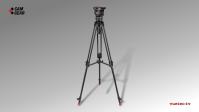 Kamerastativ Set MARK 4 mit S/N-Kopf, AL-Tripod, Mittelspinne