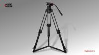 Kamerastativ Set DV6PAL mit S/N-Kopf, Carbon-Tripod, Bodenspinne