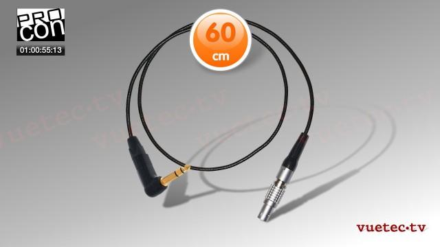 Timecode Anschlußkabel TCB92, Lemo 5pin - TRS 3,5 mm, TC out