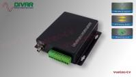 LWL1CBALBI - 1 Kanal Set, symmetrisches analog Audio bidirektional über Glasfaser