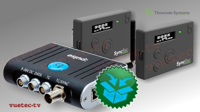 :PULSE - Timecode Hub + 2x SyncBac Pro H6/7, The 2-Pack Sports-Bundle