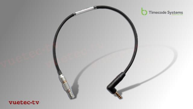 Timecode Anschlußkabel TCB43, Lemo 5pin TC-out - TRS 3.5 mm Klinke Stereo