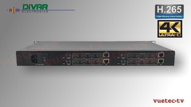 """4x4 Kanal H.265 IP Encoder 4K HDMI input - 19"""" 1 HE"""