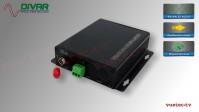 LWL1CBAL - 1 Kanal Set, symmetrisches analog Audio über Glasfaser