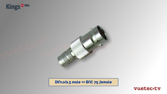 DIN1.0/2.3 zu BNC 75 Adapter - DIN male BNC female