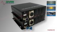 LWL1CXBAL - 1 Kanal Set, symmetrisches analog XLR Audio über Glasfaser