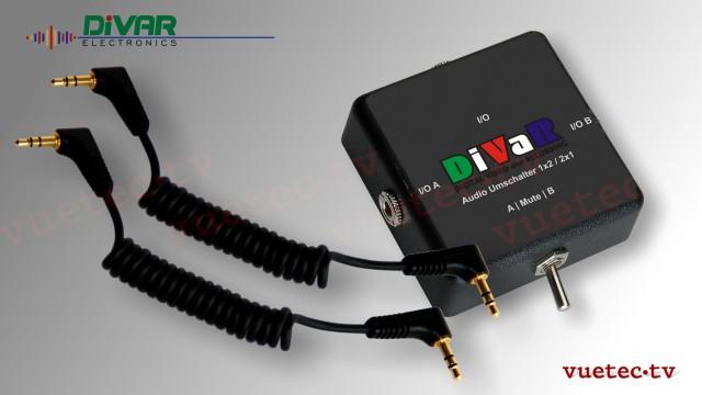 Audio-Umschalter für MP3 Player mit Anschlußkabel