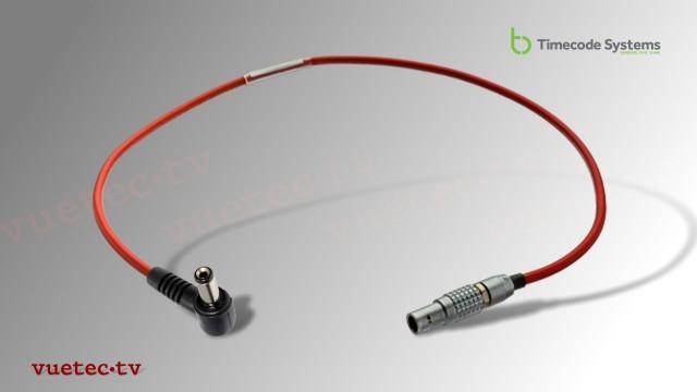 DC-Power Anschlußkabel TCB39, Lemo 2pin male - DC 5.5x2.5 gewinkelt