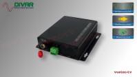 LWL2CUNBAL - 2 Kanal Set, analog Audio, un-symmetrisch, über Glasfaser