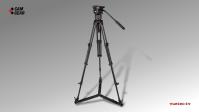 Kamerastativ Set MARK 6 mit S/N-Kopf, AL-Tripod, Bodenspinne