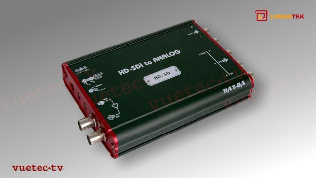 BAT-3SA - HD/SD-SDI zu Analog High Performance Mini-Converter