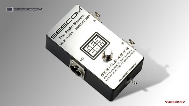 Audio-Umschalter für Audio Leitungen 1x2/2x1, Fußschalter