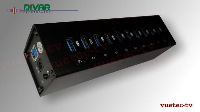 DC-Power 10fach Netzteil USB 5 V DC, 4 A max. - DC Hohl 5,5 x 2,1