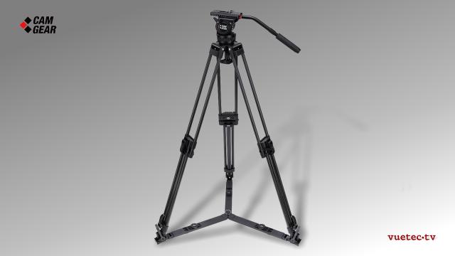 Kamerastativ Set DV6PAL mit S/N-Kopf, Alu-Tripod, Bodenspinne