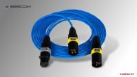 AES/EBU 110 Ohm Y-Audiokabel symmetrisch XLR3F - 2x XLR3M, 180 cm
