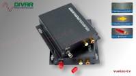 LWL2CUBRCA - 2 Kanal Set, analog Audio, un-symmetrisch RCA Cinch, über Glasfaser