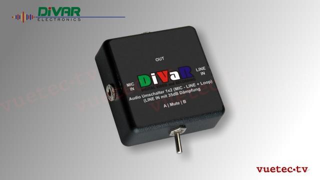 Audio-Umschalter für DSLRs mit Dämpfung