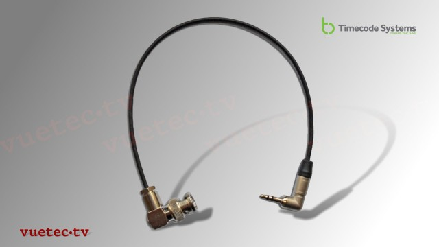 Timecode Anschlußkabel TCB42, BNC-M RA - TRS 3.5 mm Klinke