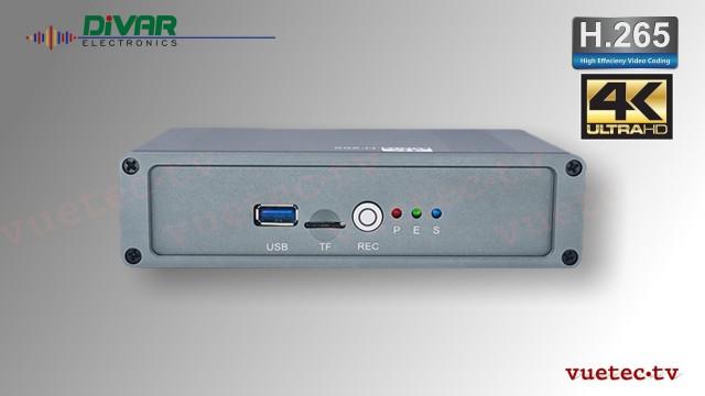 H.265 IP Encoder + Recorder 4K HDMI input