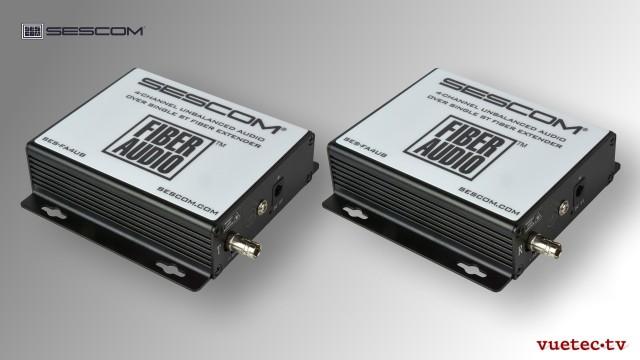 Audio over Fiber, FA4UB, 4 Kanal analog Audio, un-symmetrisch