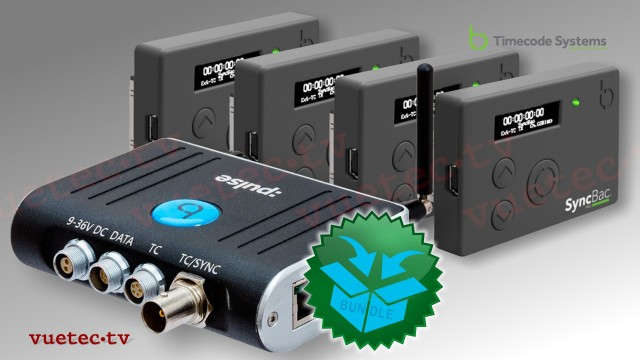 :PULSE - Timecode Hub + 4x SyncBac Pro H6/7, The 4-Pack Sports-Bundle