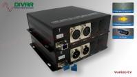 LWL2CXBAL - 2 Kanal Set, symmetrisches analog Audio XLR über Glasfaser
