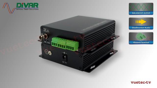 LWL4CBAL - 4 Kanal Set, symmetrisches analog Audio über Glasfaser