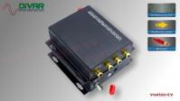 LWL4CUBRCA - 4 Kanal Set, analog Audio, un-symmetrisch RCA Cinch, über Glasfaser